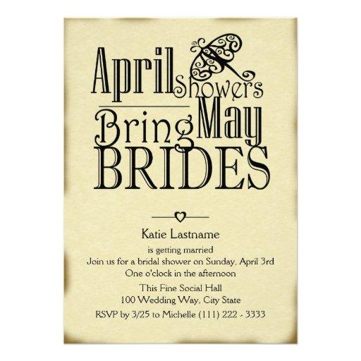 April Showers May Brides Announcement