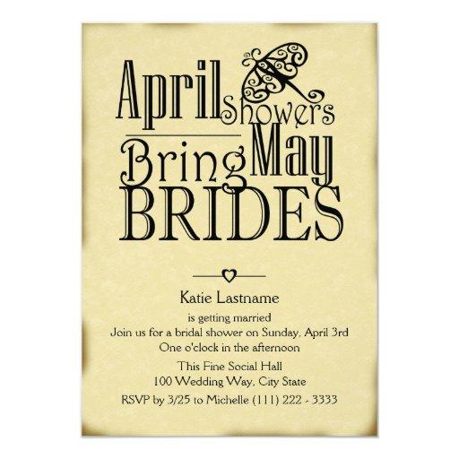 April Showers May Brides Card