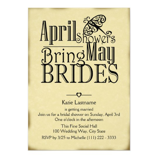 April Showers May Brides Card