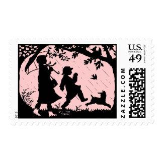 April Showers retro   design Stamp