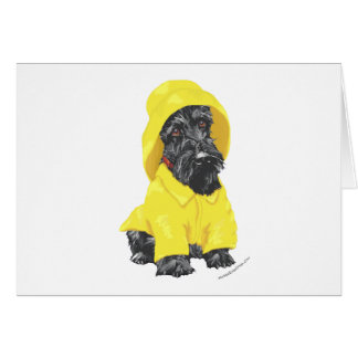 April Showers Scottish Terrier Card