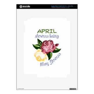 April Showers Skins For iPad 3