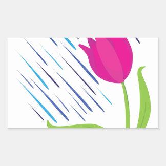 April Showers Rectangular Sticker