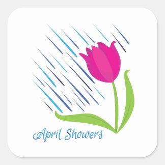 April Showers Square Sticker