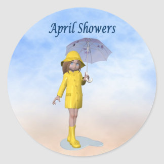 April Showers Stickers