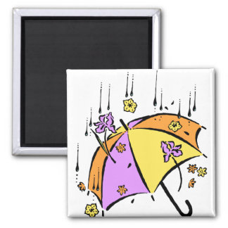 April Showers Umbrella Fridge Magnet