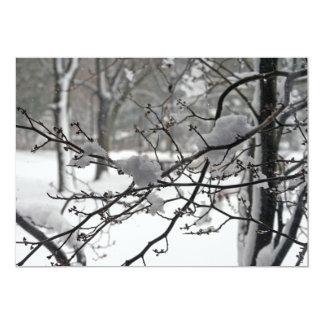 April Snow 5x7 Paper Invitation Card