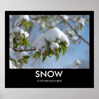 April Snow Demotivational Poster at Zazzle