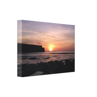 April Sunrise by St Andrews Pier Canvas Print