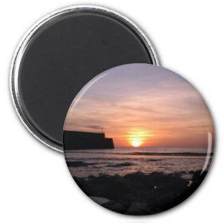 April Sunrise By St Andrews Pier Magnet