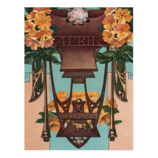 April - Taurus Post Card