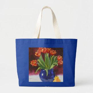 April Tuliips Jumbo Tote Bag