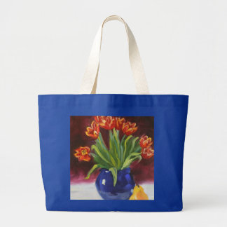 April Tuliips Large Tote Bag
