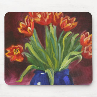 April Tulips Mouse Pad