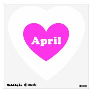 April Wall Sticker