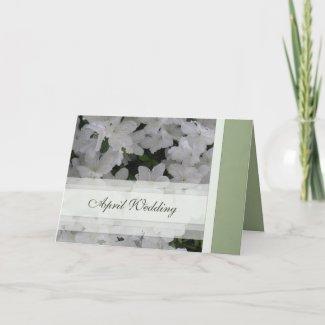 April Wedding Card card