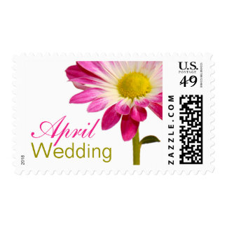 April Wedding Invitation Stamps | Daisy Postage