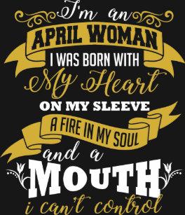 April Woman Birthday T Shirt
