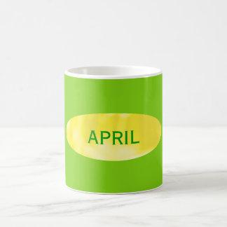 April Yellow Green Coffee Mug by Janz