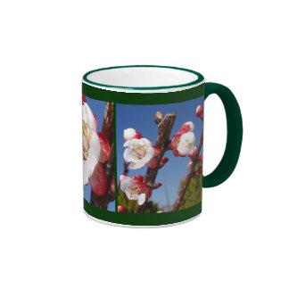 April's Blossom Ringer Coffee Mug