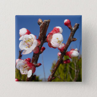 April's Blossom Pinback Button