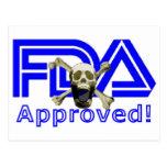 Aprobado por la FDA Tarjetas Postales