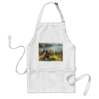 Apron Ann Hayes Painting Chalet Near The Lake