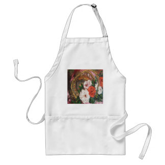 Apron Ann Hayes Painting Flower Basket Down