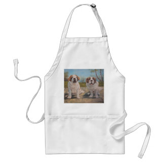 Apron Ann Hayes Painting Two St. Bernards