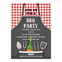 Apron BBQ Party Invitation