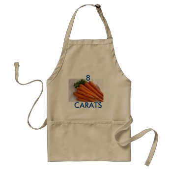 Apron Chefs Apron For Carats by creativeconceptss at Zazzle