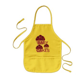 Apron Chefs Apron For Cupcakes Khaki by CREATIVEforKIDS at Zazzle
