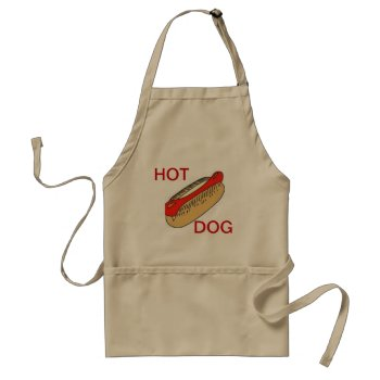 Apron Chefs Apron For Hot Dog Khaki by CREATIVEforHOME at Zazzle