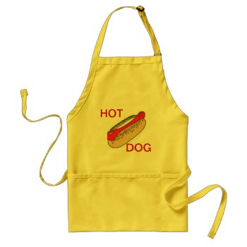 Apron Chefs Apron For Hot Dog Yellow by creativeconceptss at Zazzle