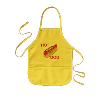 Apron Chefs Apron For Hot Dog Yellow by CREATIVEforKIDS at Zazzle