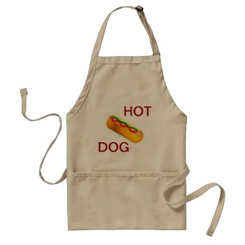Apron Chefs Apron For Hot Dogkhaki by creativeconceptss at Zazzle
