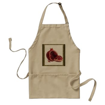Apron Chefs Apron For Pomegranate by creativeconceptss at Zazzle