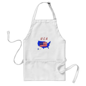 Apron Chefs Apron For Usa Flag by creativeconceptss at Zazzle