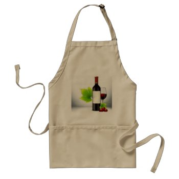 Apron Chefs Apron For Wine And Cheese  Khaki by creativeconceptss at Zazzle