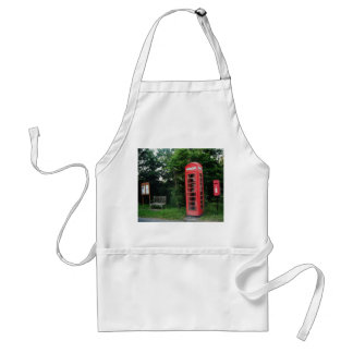 Apron Countryside Red Phone and Mail Box