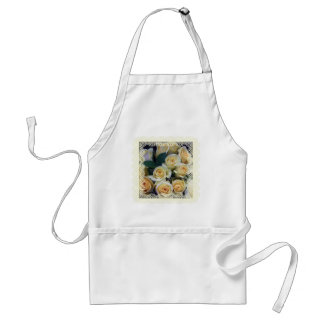 Apron - Creamy Yellow Roses in Lace