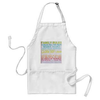 Apron- Custom  Family Rules Adult Apron by creativeconceptss at Zazzle