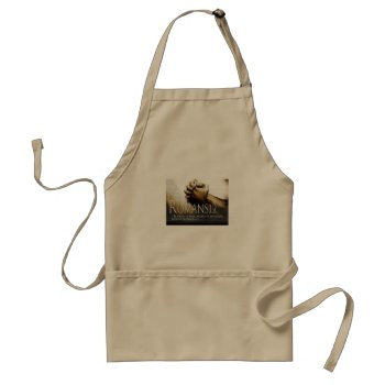 Apron  Dark Khaki Color   Romans by CREATIVECHRISTIAN at Zazzle