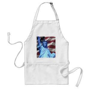 Apron Flag & Statue of Liberty