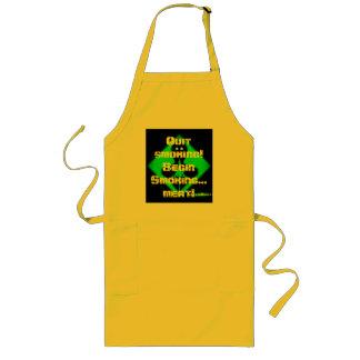 apron front, Quit smoking! Begin Smoking... meat!