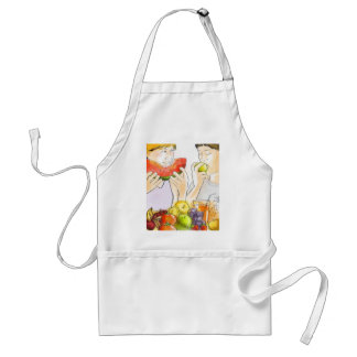 Apron fruits and vegetables of season