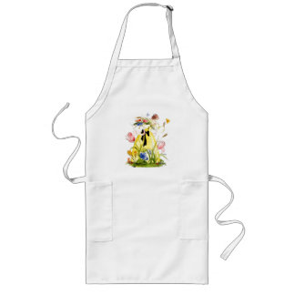 Apron Gather Wildflowers Butterfly Lady Vintage