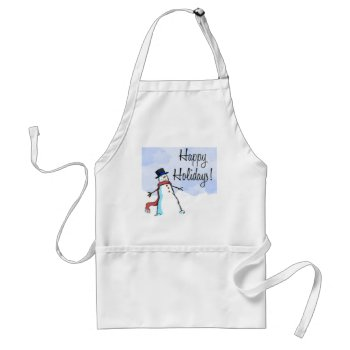 Apron Happy Holiday Christmas by creativeconceptss at Zazzle
