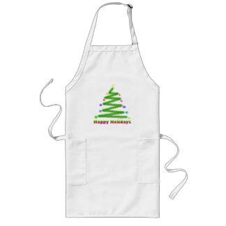 APRON - HAPPY HOLIDAYS CHRISTMAS TREE