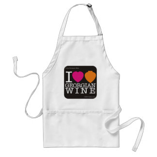 "Apron ""I Love Georgian Wine"",  black logo"